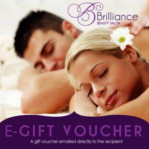 Brilliance Beauty Salon Voucher with a couple having a massage