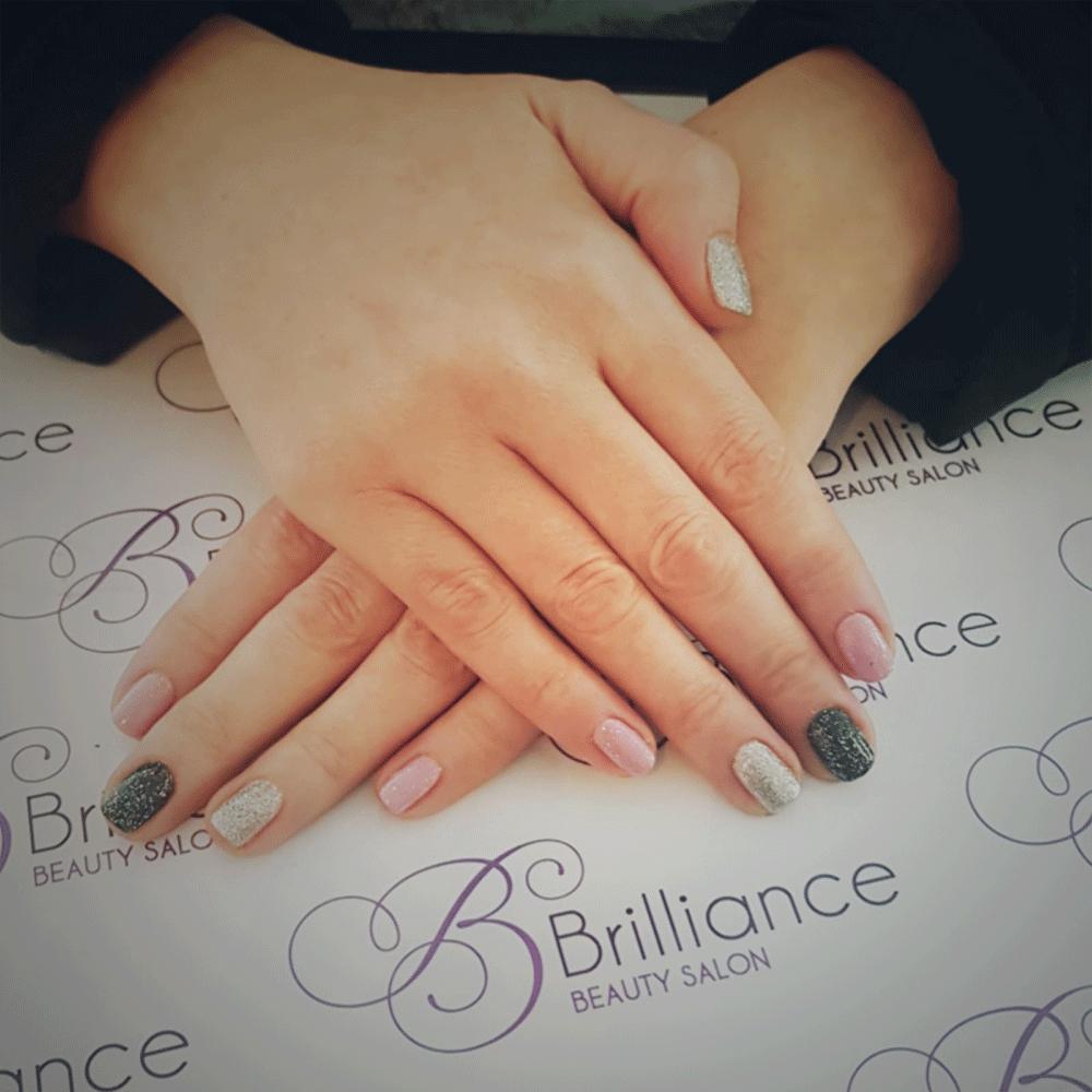 multicoloured gel nails