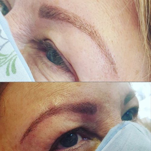 microblading before and after photo